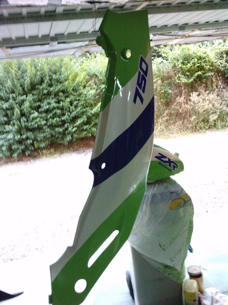 Ma verte en cours de resto peinture  P2408140
