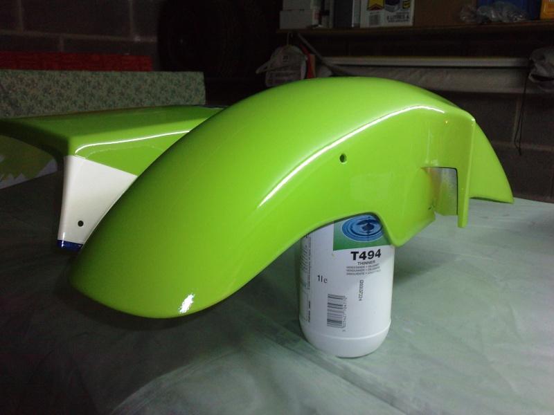 Ma verte en cours de resto peinture  P2408142