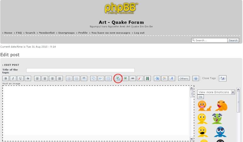 Tata Cara, Peraturan, Tanya Jawab Forum Art - Quake 111