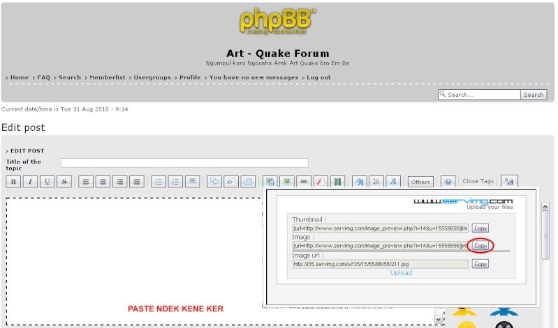 Tata Cara, Peraturan, Tanya Jawab Forum Art - Quake 311