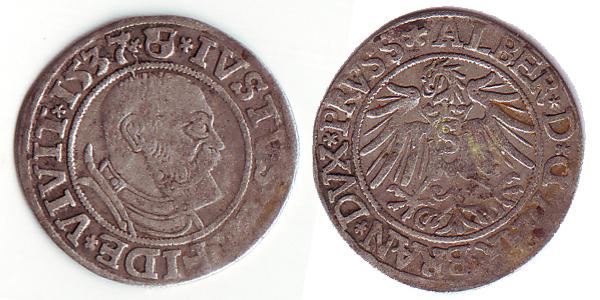 Groschen d'Albert de Brandebourg, duc de Prusse Serie-12