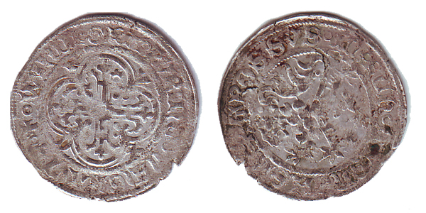 Jeton ? Non, Kreuzgroschen pour Wilhelm Ier (1381-1407) de Freiberg, Saxe  Serie-14
