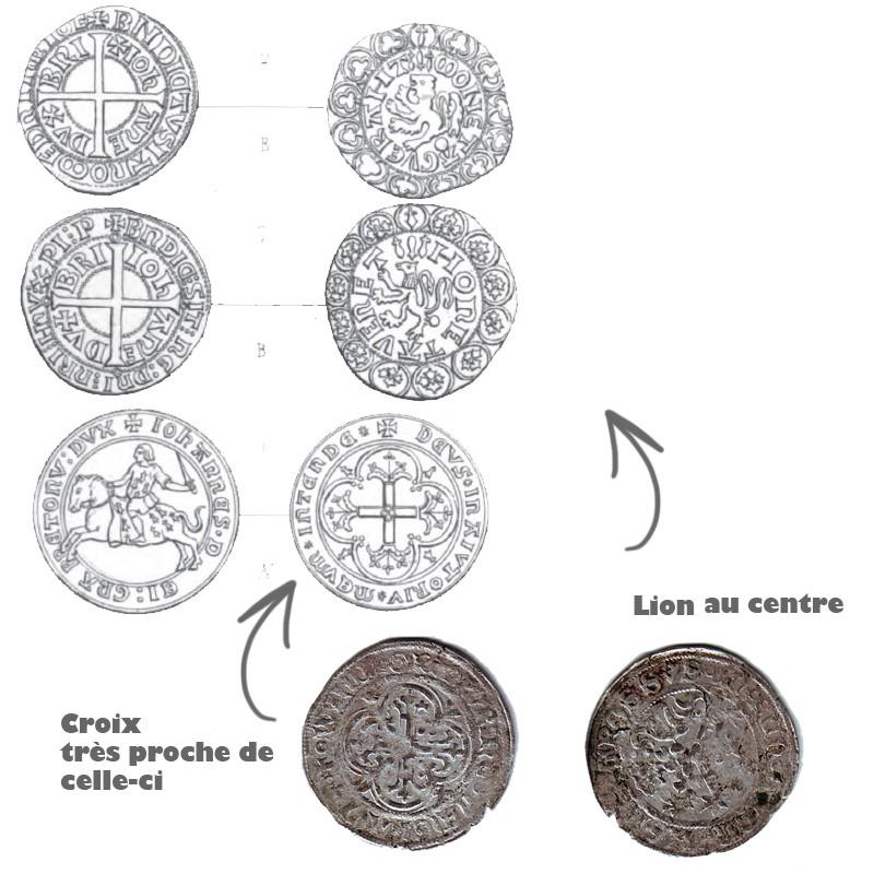 Jeton ? Non, Kreuzgroschen pour Wilhelm Ier (1381-1407) de Freiberg, Saxe  Serie-18