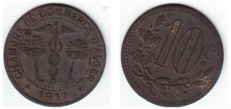 10 centimes Chambre de Commerce d'Alger Serie-19