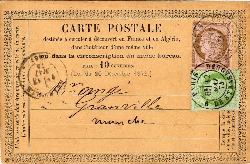 Fin de l'étoile parisienne, mars 1876 Cachet11