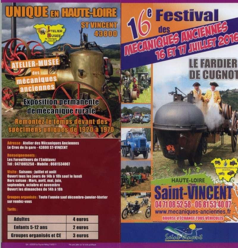 43 St VINCENT: 16ème Festival des vieilles mécaniques 2016 (Haute Loire) St_vin14