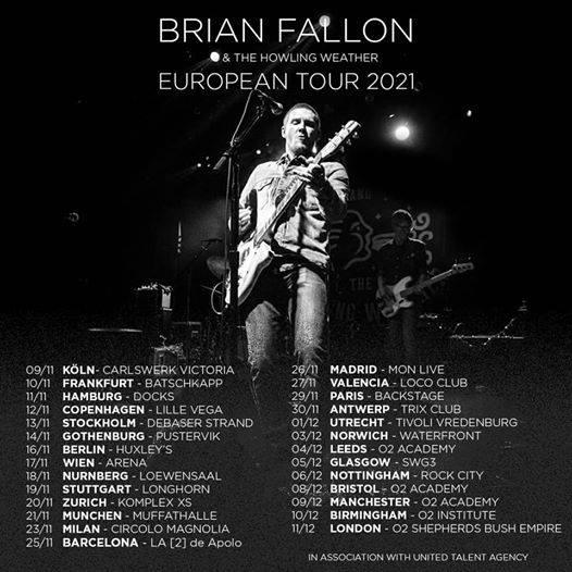 Brian Fallon & The Howling Weather European Tour winter 2021 || RESCHEDULED 10973110