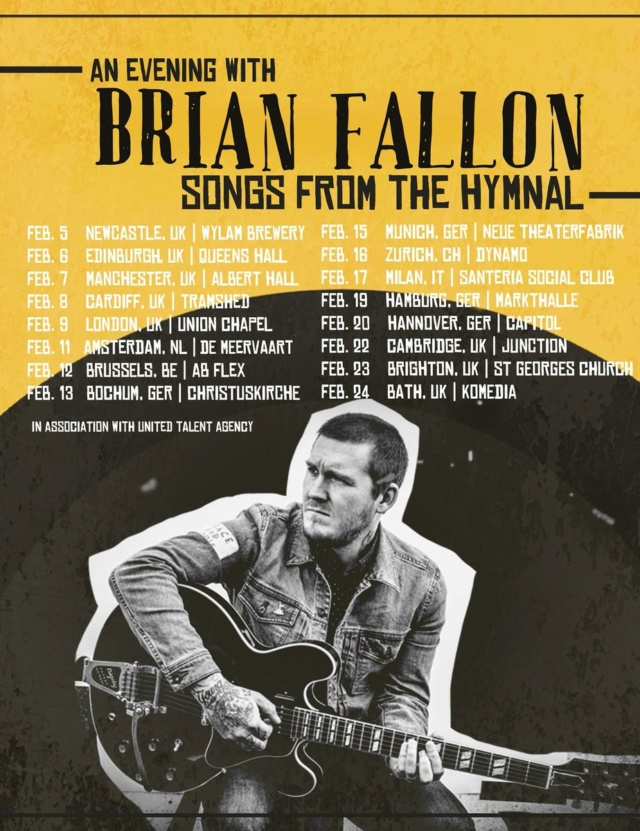 An Evening with Brian Fallon: Songs from the Hymnal - EUROPEAN Tour Dgjdq912