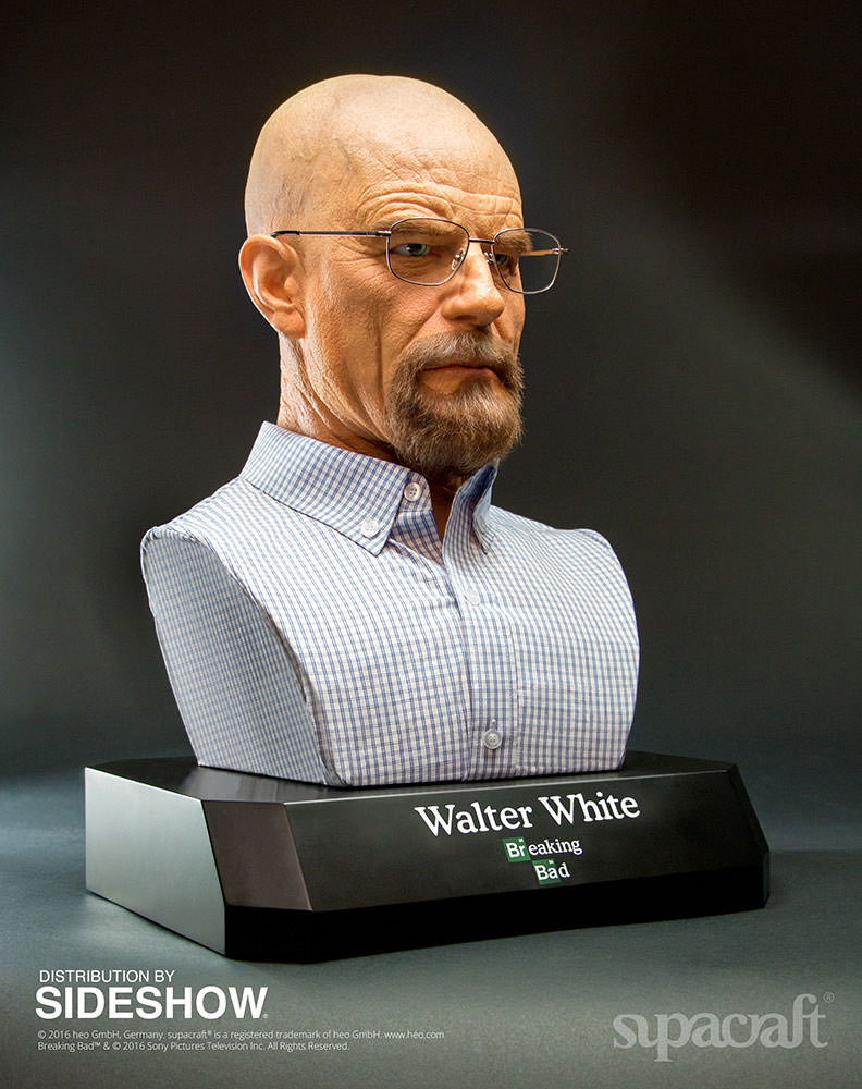 Buste Life Size de Walter White de Breaking Bad par Supracraft Bb410