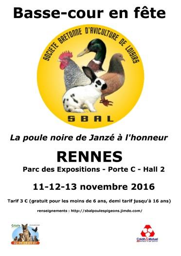 Expositions avicoles en NOVEMBRE 2016 Affich12
