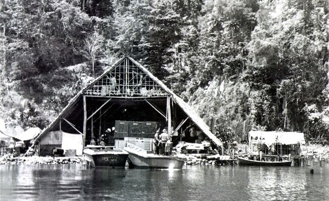 un pt boat au repos  Tulagi10