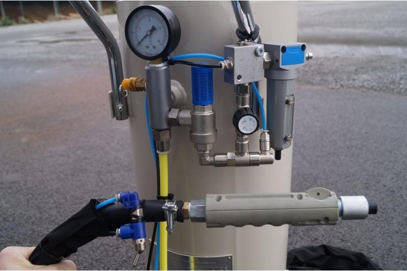Monter une vanne à commande pneumatique sur une sableuse Ajax_p11
