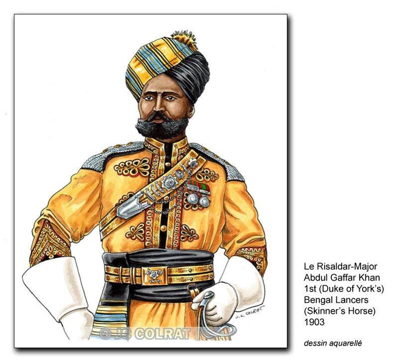 Hommage a JCC - le Risaldar-Major Abdul Gaffar Khan - 1st skinner horse Risald10