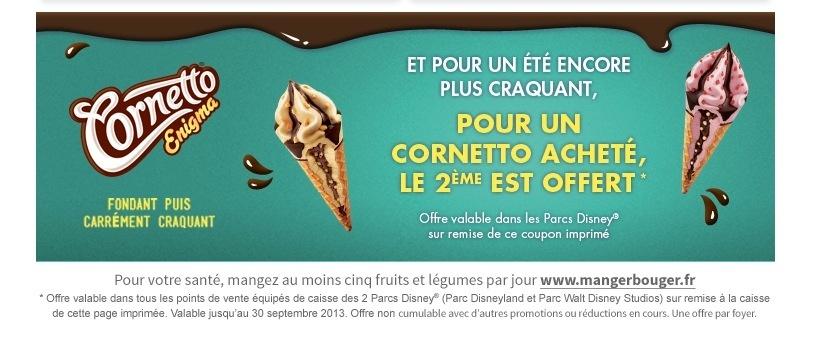 DISNEYLAND PARIS : Une glace Cornetto achetée = 2 ÈME GLACE CORNETTO OFFERTE Sans_t10