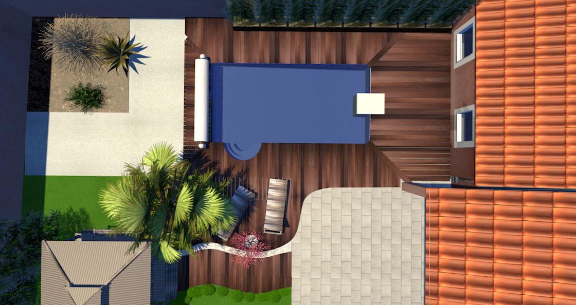 Projet de bassin en terrasse 2000L ou plus Maison15