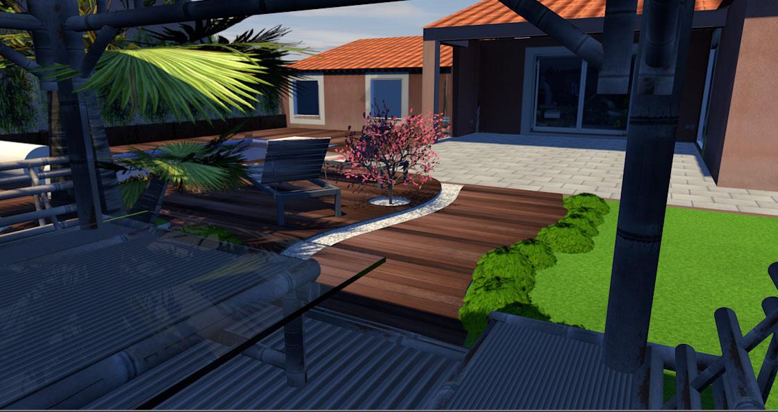 Projet de bassin en terrasse 2000L ou plus Maison18