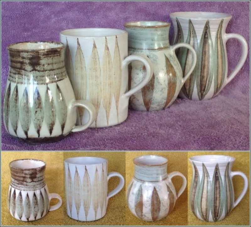 Hanmer Pottery mugs (4,5,6) and bowls (2) Hanmer11