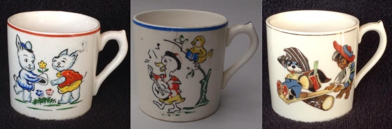 "Kiddies' Mug 844 ""Mary Mary Quite Contrary"" Nurser10"