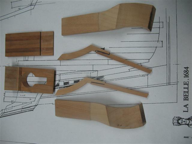 La Belle 1684 scala 1/24  piani ANCRE cantiere di grisuzone  Img_6813