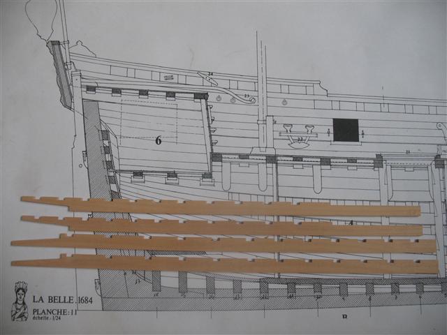 La Belle 1684 scala 1/24  piani ANCRE cantiere di grisuzone  Img_6912