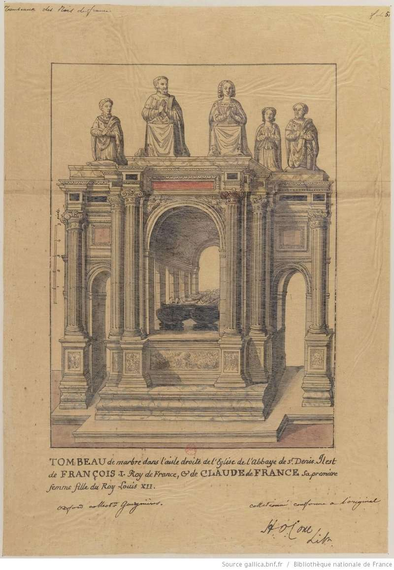 Le tombeau de François I° et de Claude de France Tombea15