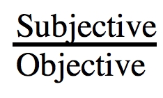 Subjective <> Objective Subjec10