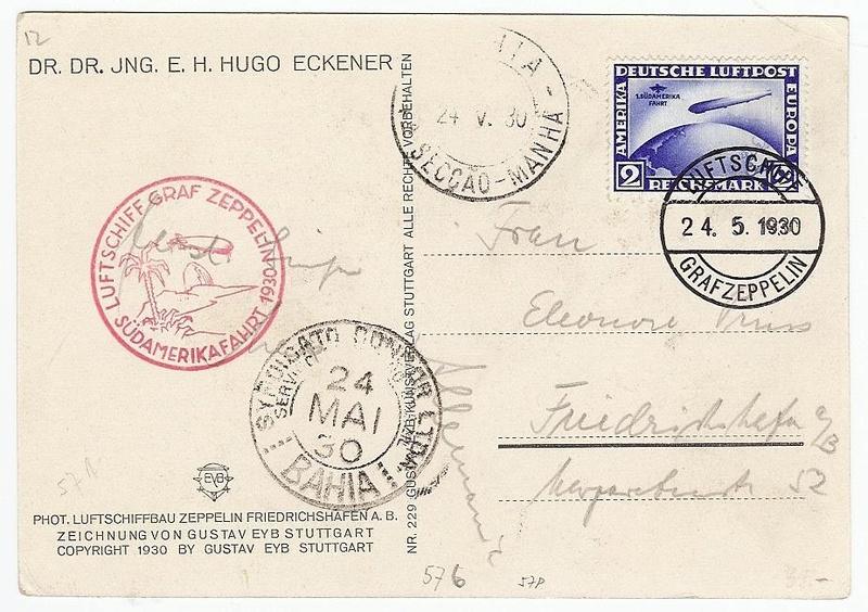 Südamerikafahrt 1930, Post nach (Salvador de) Bahia 57_ba_10