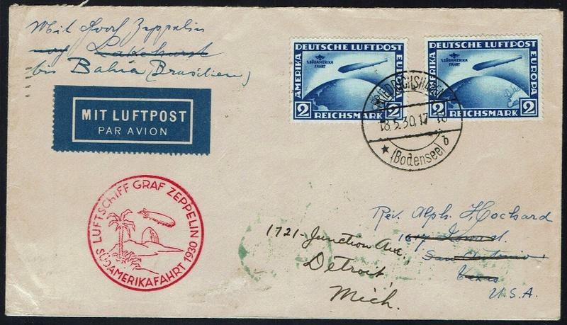 Südamerikafahrt 1930, Post nach (Salvador de) Bahia 57_l_b10