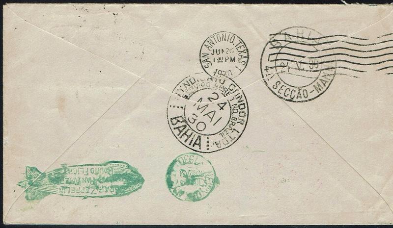 Südamerikafahrt 1930, Post nach (Salvador de) Bahia 57_l_b11