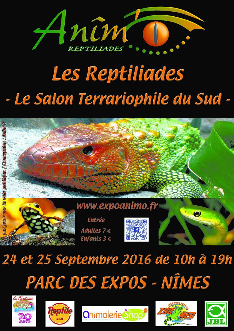 Les Reptiliades 2016 - 24 et 25 septembre - Nîmes Affich10