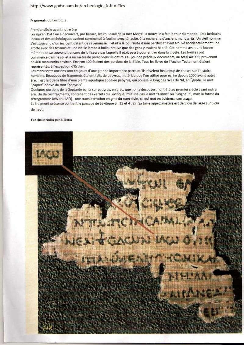Pourquoi Jehovah dans le NT est une insulte à la foi chrétienne ? - Page 2 Img17510