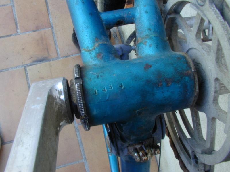 Gitane bleu trois tubes Reynolds et pattes nid d'abeilles P1012124
