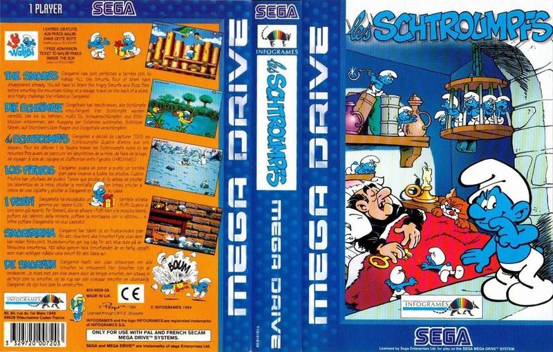 Le mystérieux pack Schtroumpfs Mega Drive 184711