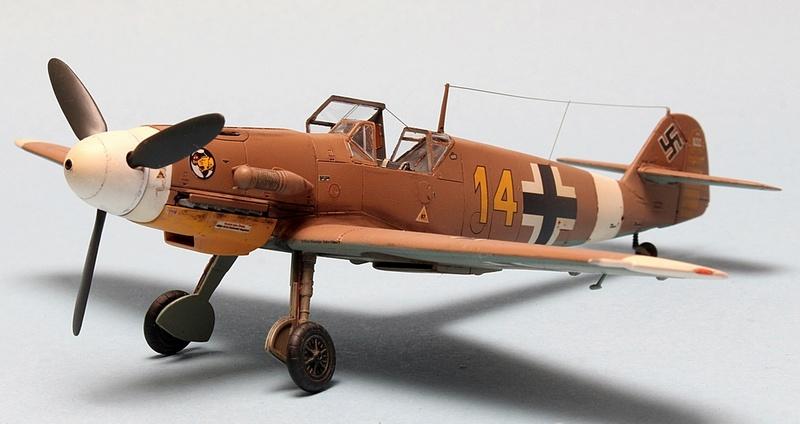 Bf-109 F-4/Trop H.J. Marsellie - FM 1/72 Img_6829