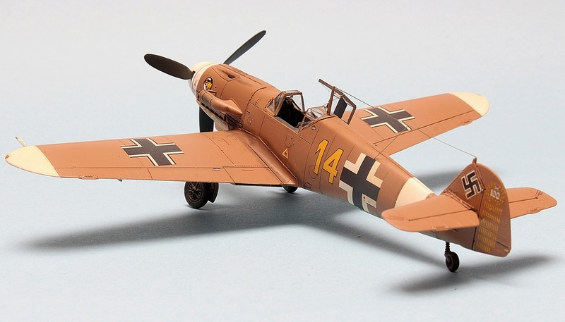 Bf-109 F-4/Trop H.J. Marsellie - FM 1/72 Img_6832