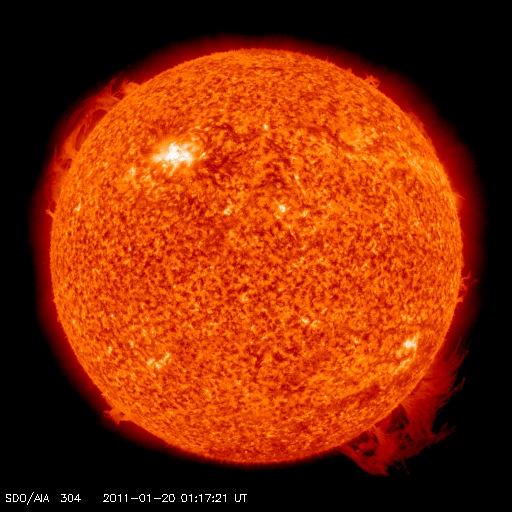 Suivi de la mission SDO (Solar Dynamics Observatory) 20110111