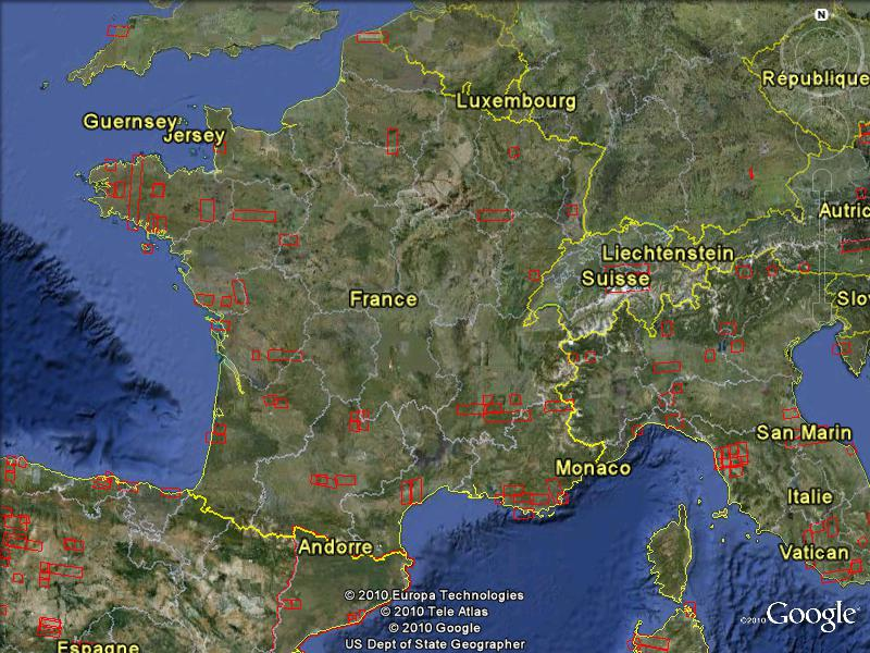 Mises à jour des photos aériennes et des images satellites. Maj_0111