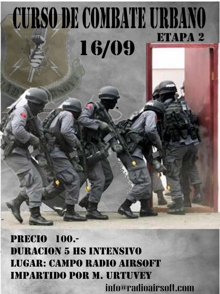 CURSO DE COMBATE URBANO 16 de sept. 09:00hs Cqb210