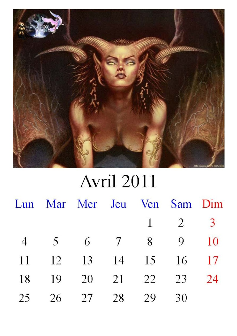 Calendrier Equinox 2011 Avril10
