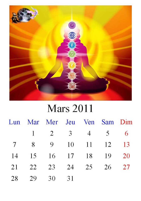 Calendrier Equinox 2011 Mars11