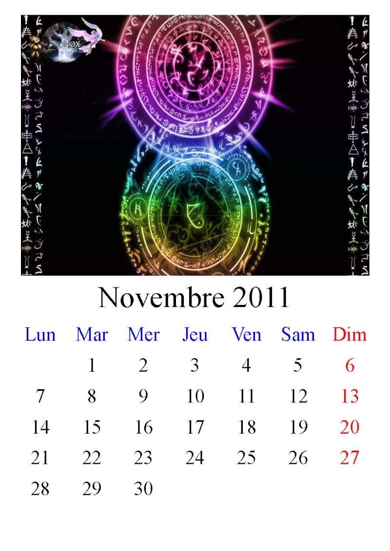 Calendrier Equinox 2011 Novemb10