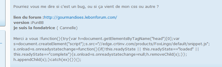 code qui s'affiche dés que je poste un message Sans_t10