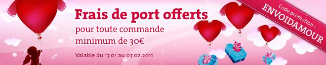 Frais de port offerts pour toute commande minimum de 30€ ! Ad_66010