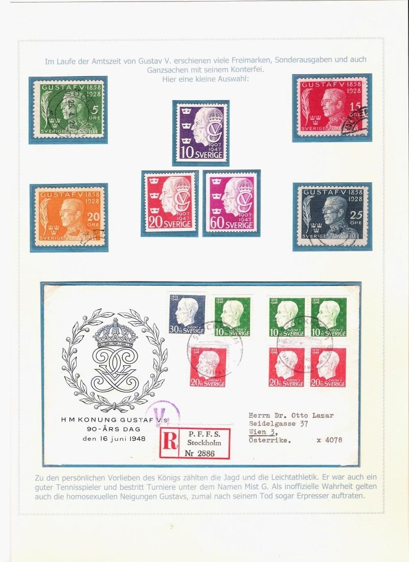 Das schwedische Königshaus im Spiegel der Briefmarke Kynigs15