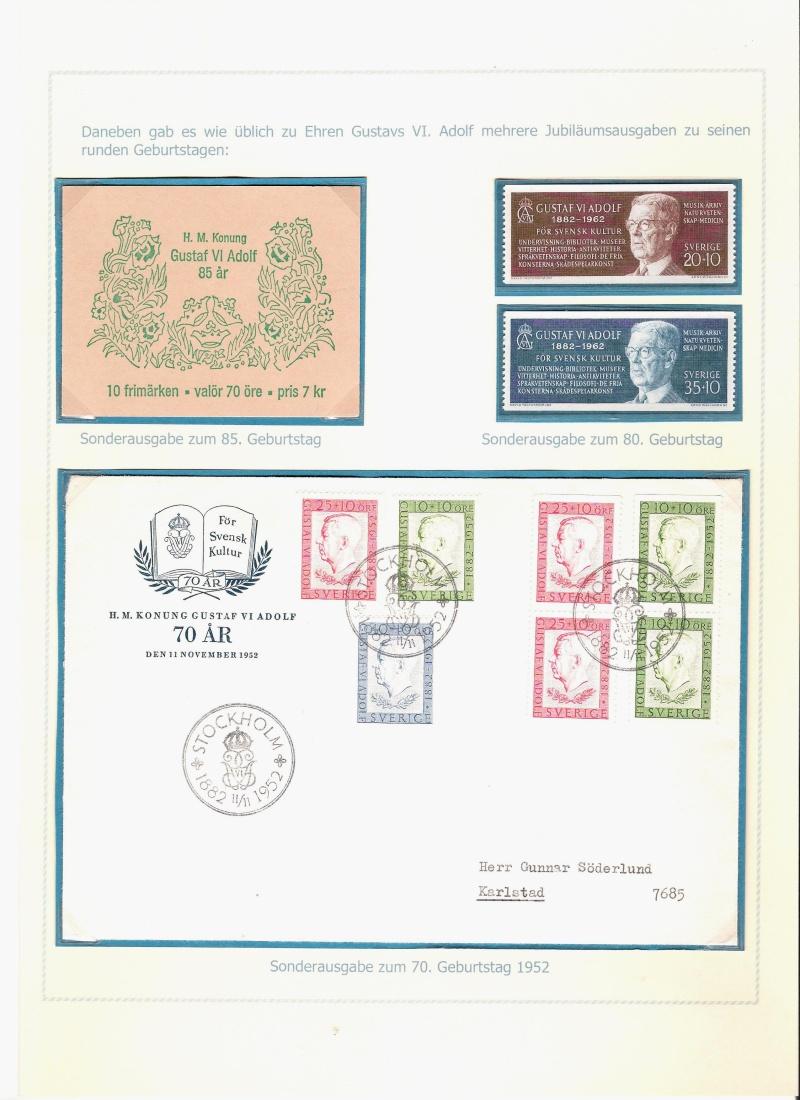 Das schwedische Königshaus im Spiegel der Briefmarke Kynigs17