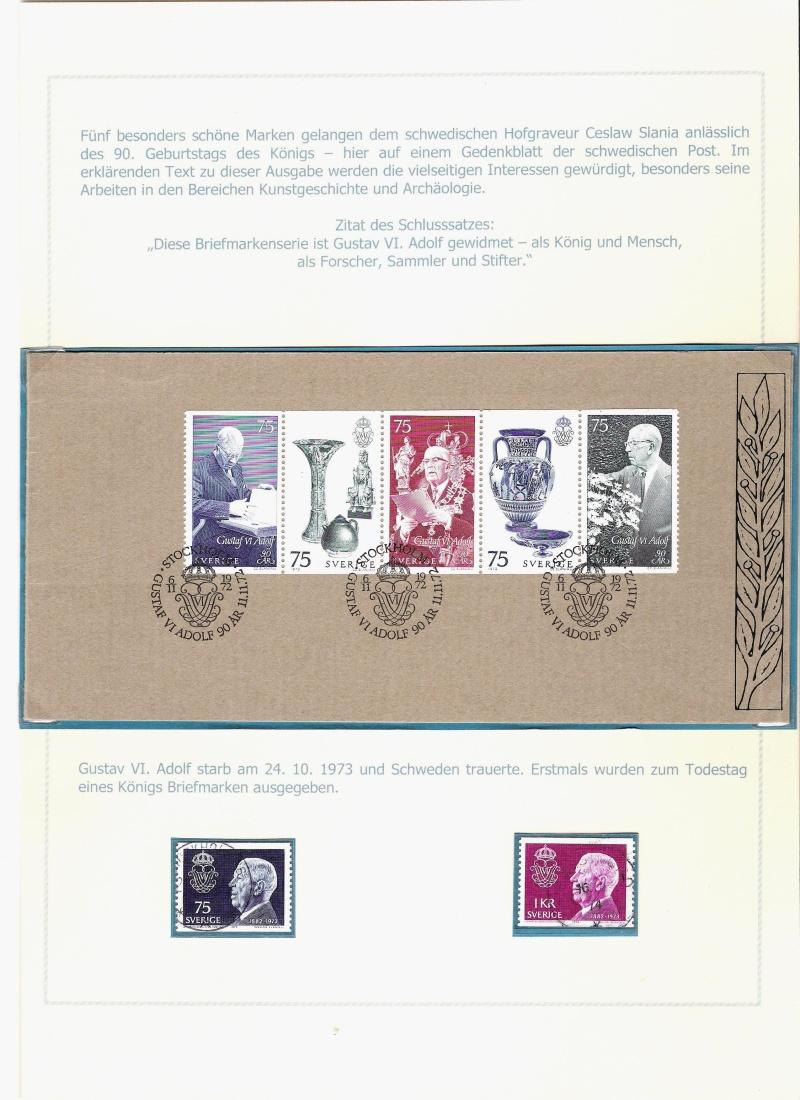 Das schwedische Königshaus im Spiegel der Briefmarke Kynigs18