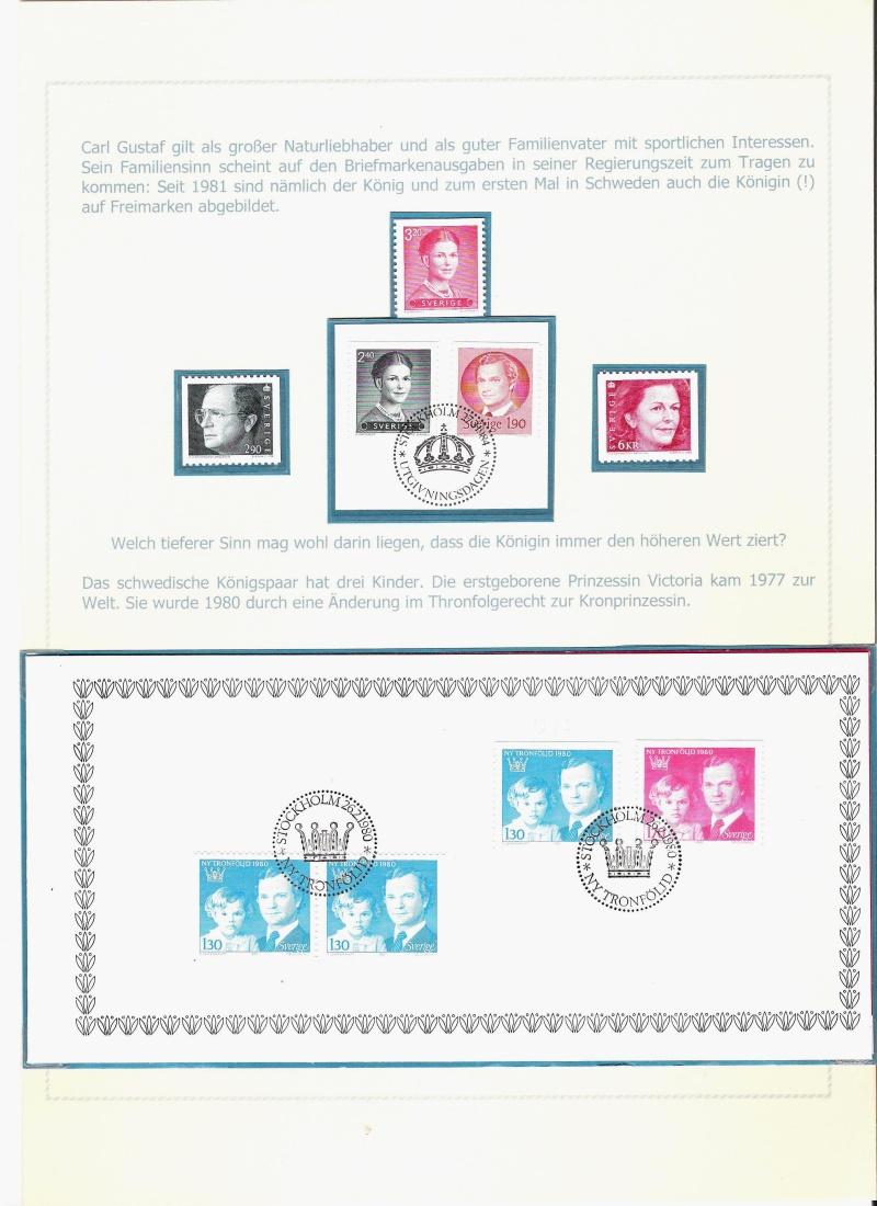 Das schwedische Königshaus im Spiegel der Briefmarke Kynigs21