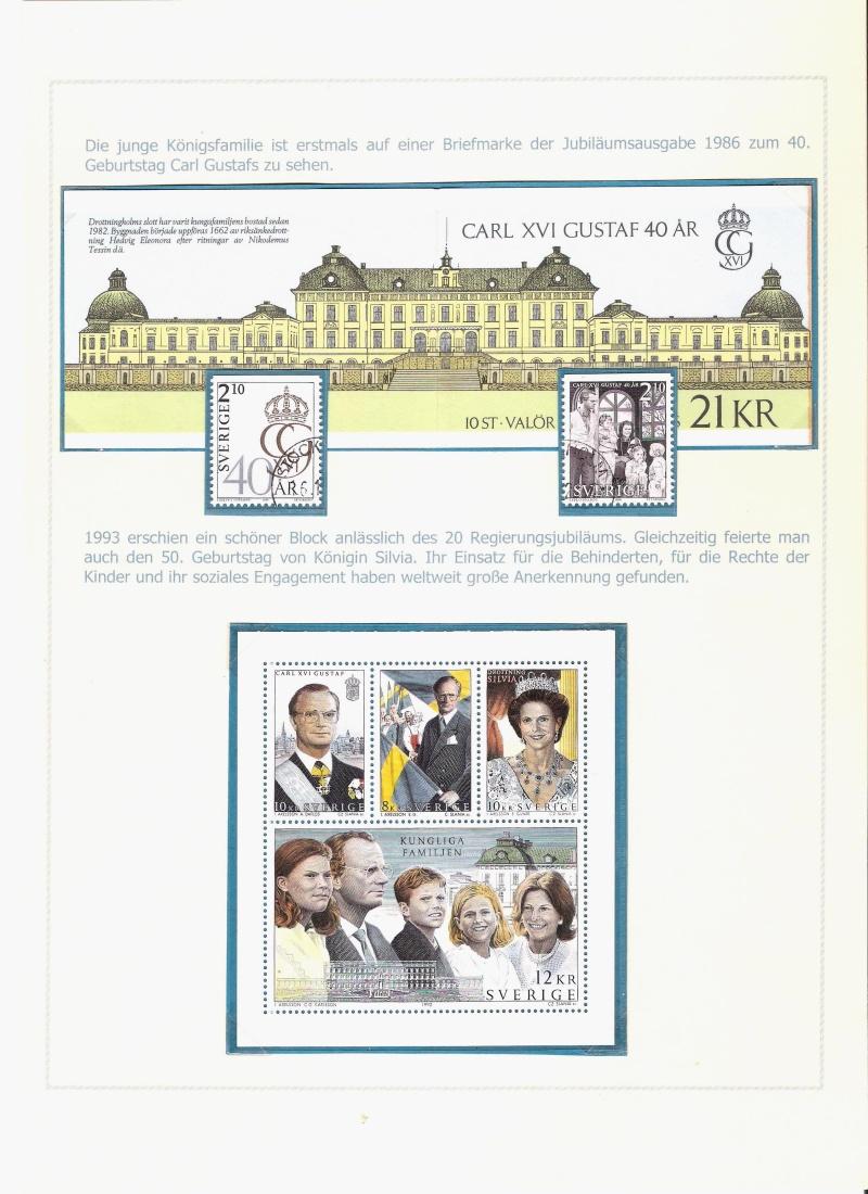 Das schwedische Königshaus im Spiegel der Briefmarke Kynigs22