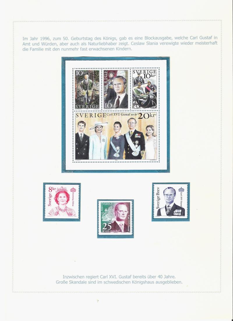 Das schwedische Königshaus im Spiegel der Briefmarke Kynigs23