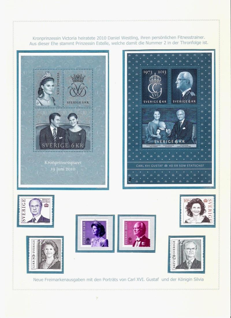 Das schwedische Königshaus im Spiegel der Briefmarke Kynigs24